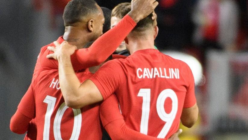 Canada - celebration - defeating USA