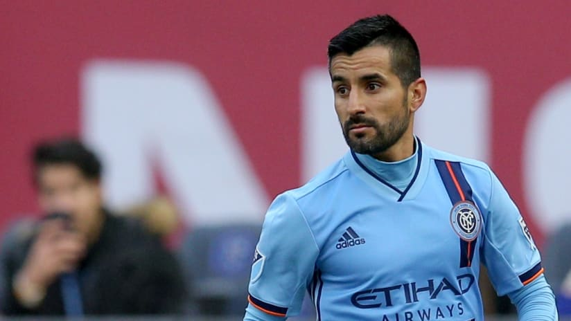 Maxi Moralez close up - NYCFC