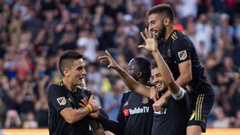 Carlos Vela - Diego Rossi - LAFC celebration