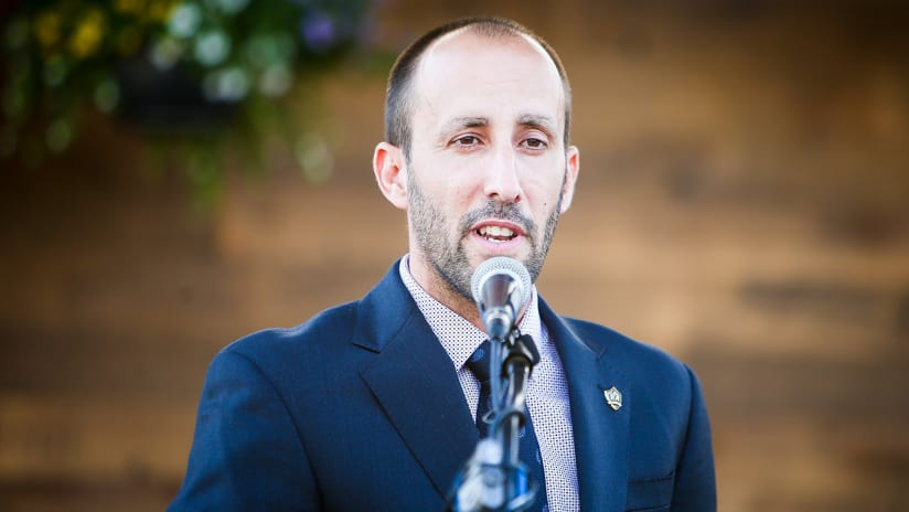Pete Vagenas - LA Galaxy general manager and VP of soccer ops - suit and tie