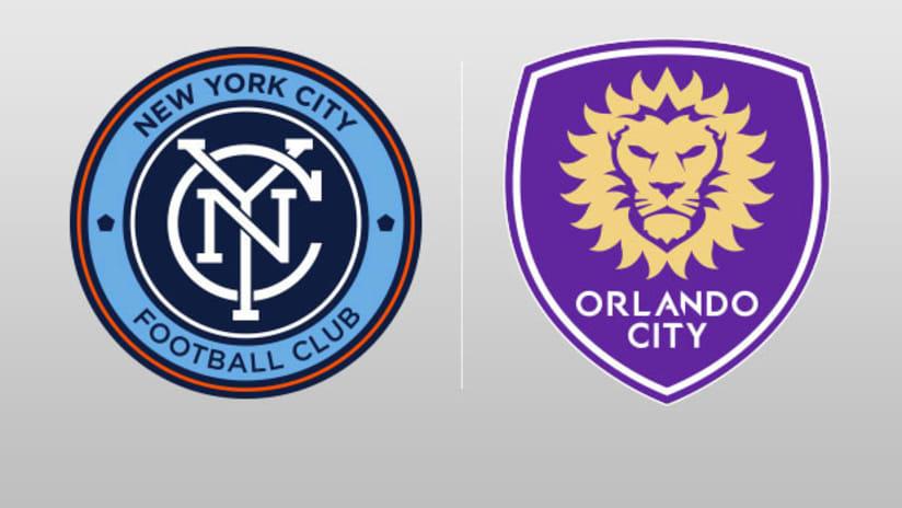 NYCFC Orlando City SC Split-Screen Image