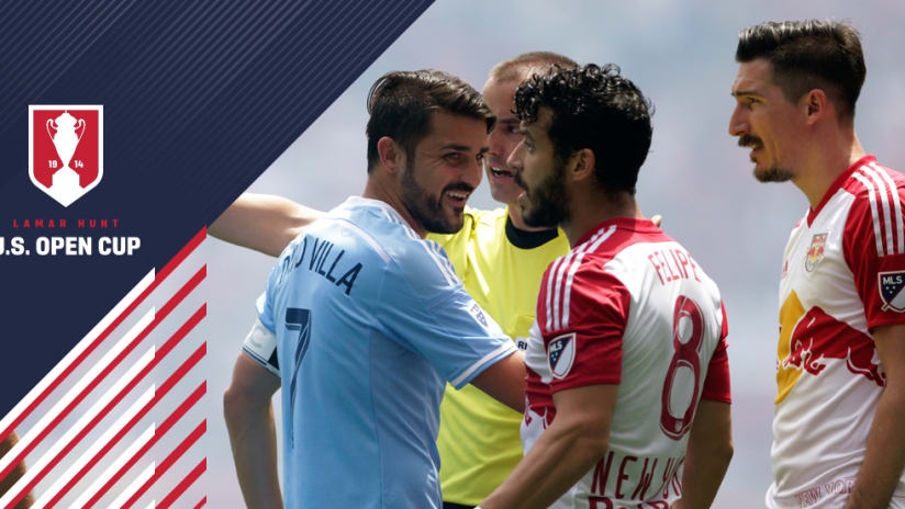 Open Cup: Felipe - Sacha Kljestan - David Villa - New York Red Bulls - New York City FC
