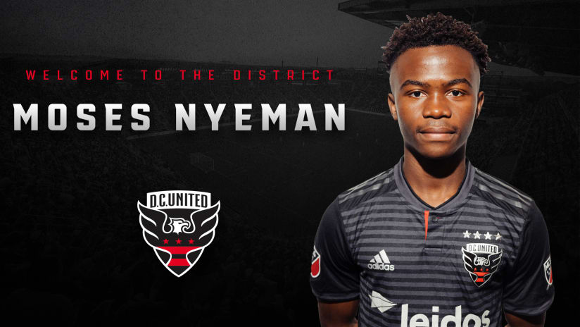 Moses Nyeman signs - D.C. United