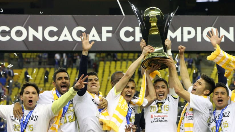 club america - concacaf champions League - trophy celebration (updated)