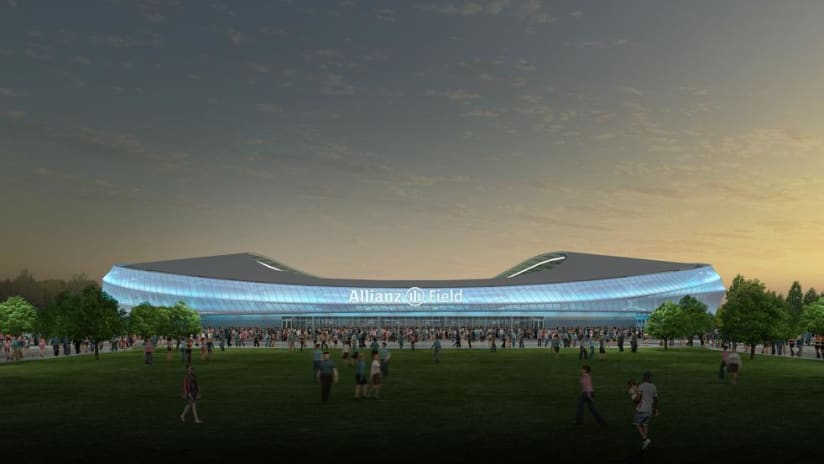 Allianz Field - Minnesota United - mockup image of exterior skin