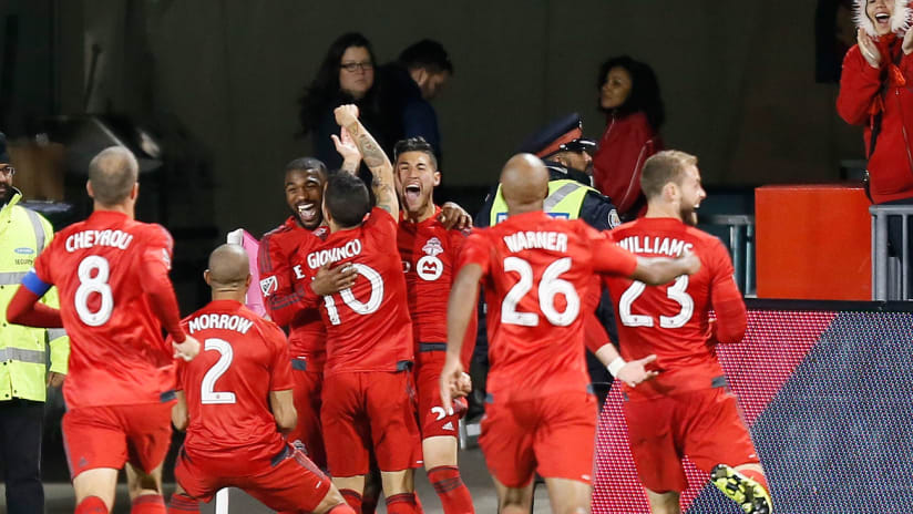 Toronto FC celebrate - Giovinco goal