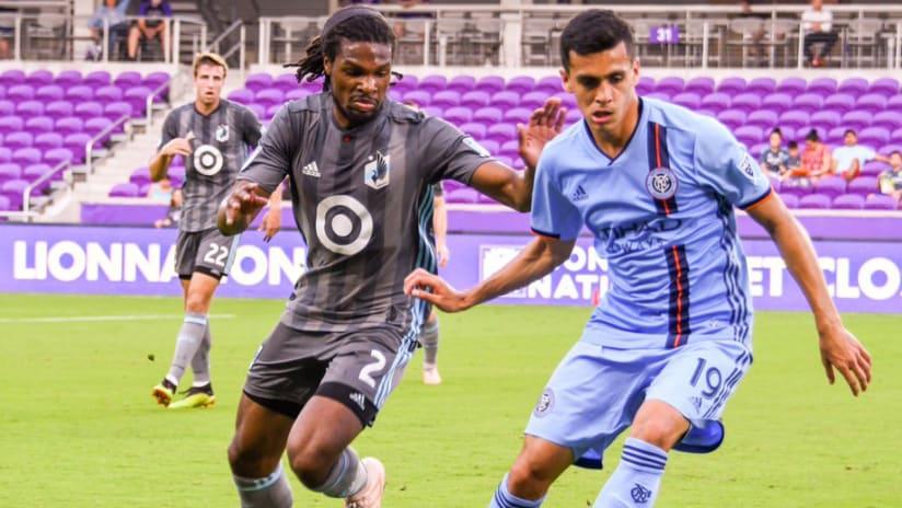 Carter Manley - Jesus Medina - Minnesota United - NYCFC - preseason