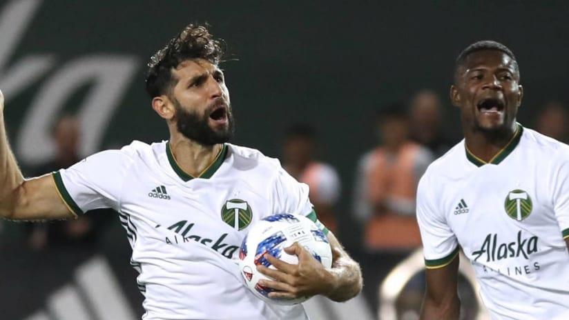 Diego Valeri - celebrates - made penalty