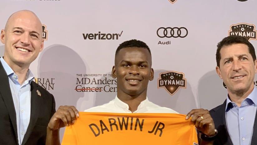 Matt Jordan - Darwin Quintero - Tab Ramos - Houston Dynamo - unveiling