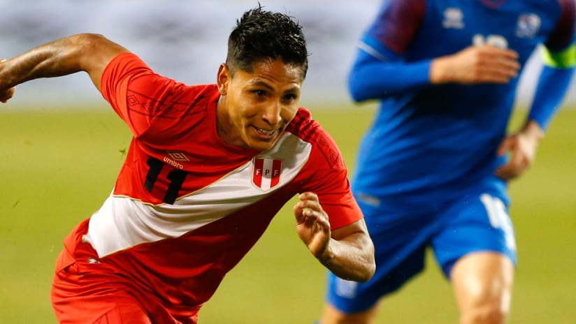Raul Ruidiaz - Peru - in action during a friendly vs. Iceland at Red Bull Arena