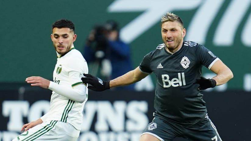 David Milinkovic on the ball - Vancouver Whitecaps