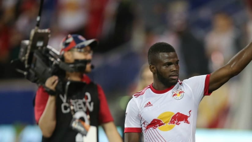 Kemar Lawrence - New York Red Bulls - waves after the final whistle
