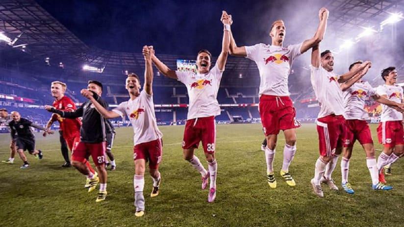 Red Bulls II celebrate USL Eastern Conference Championship - 10/17/16