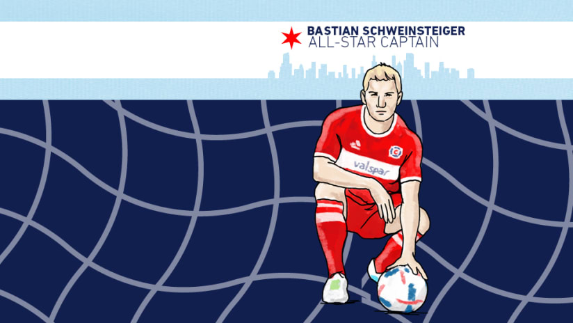 Bastian Schweinsteiger - All-Star captain stylized/cartoon image