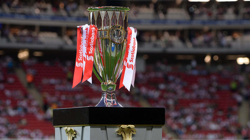 Concacaf Champions League trophy - on stand