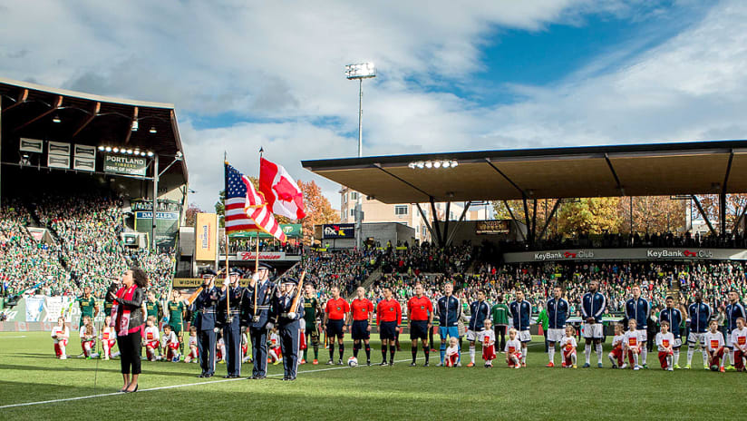 Providence Park - Portland Timbers - National Anthems