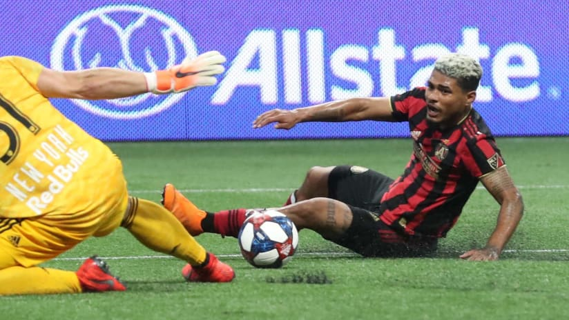 Josef Martinez on the ground - Atlanta United