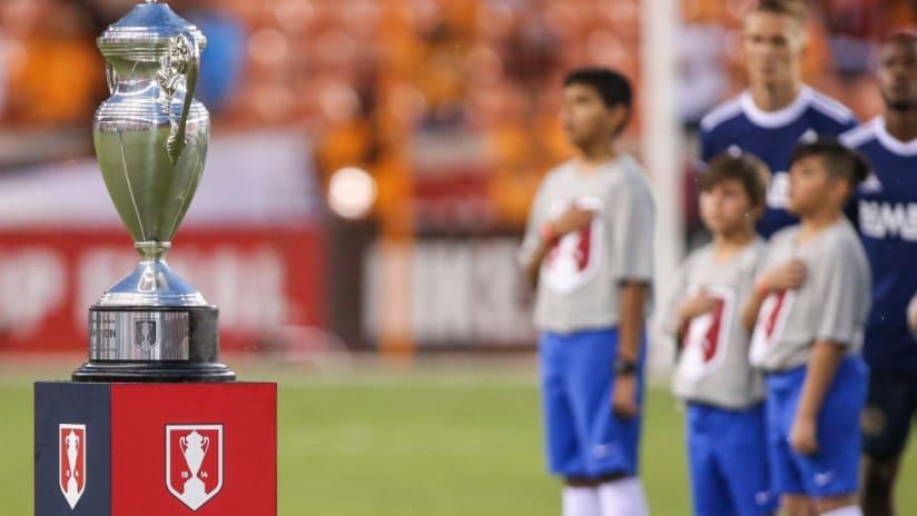 U.S. Open Cup - anthem - trophy