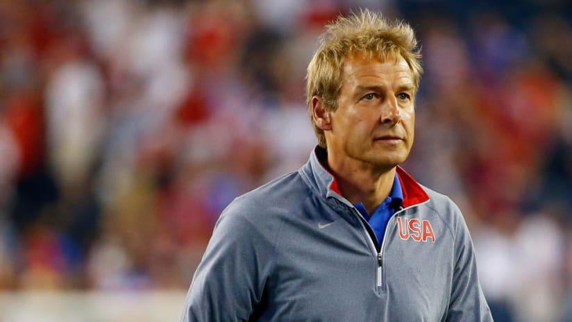 Jurgen Klinsmann - US national team - close up alone