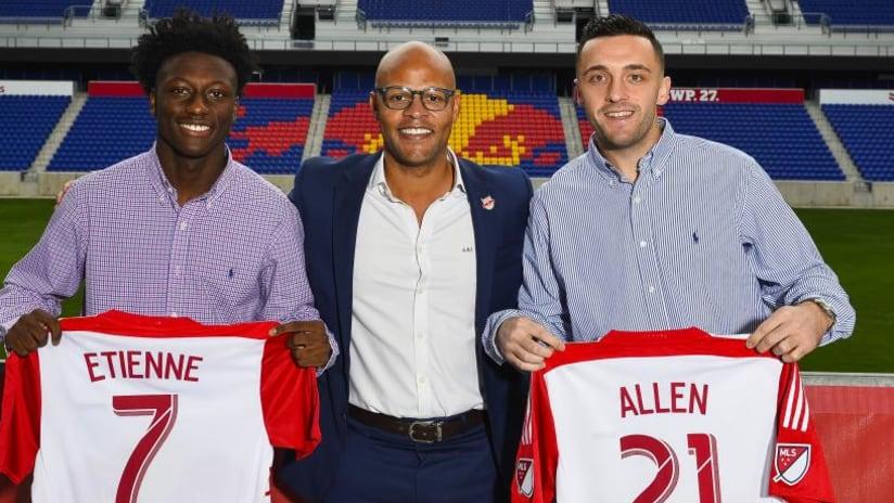 New York Red Bulls sign Homegrowns Derrick Etienne, Brandon Allen