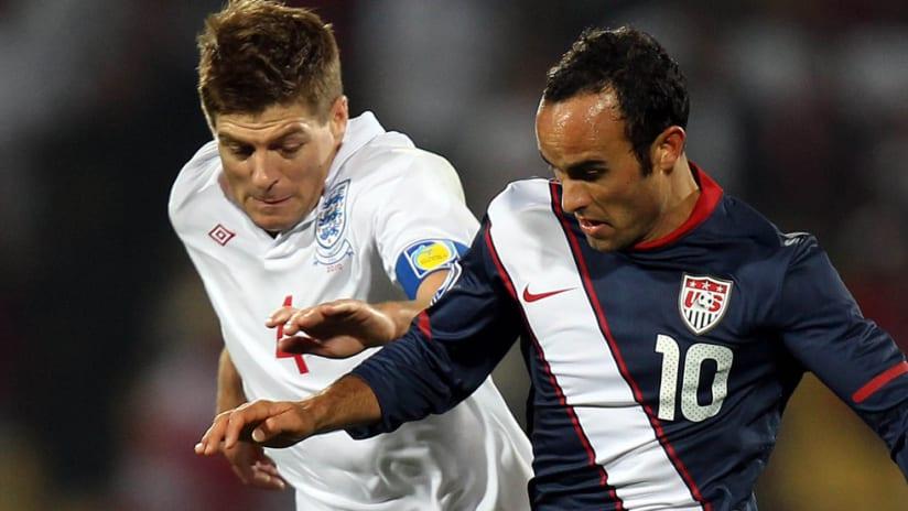 Landon Donovan - United States - Steven Gerrard - England - World Cup 2010