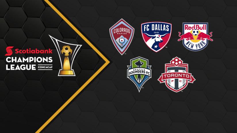 CCL - 2018 CCL logo - with MLS team logos