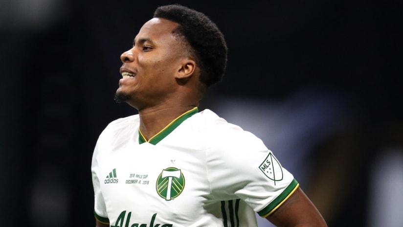 Alvas Powell - Portland Timbers - close up - MLS Cup 2018