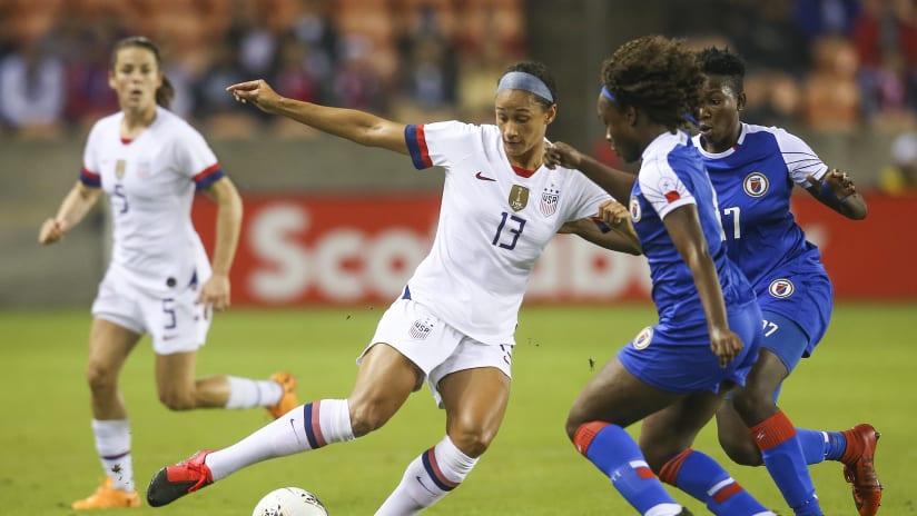 Lynn Williams - US women's national team - vs. Haiti, 2020 Olympic qualifying