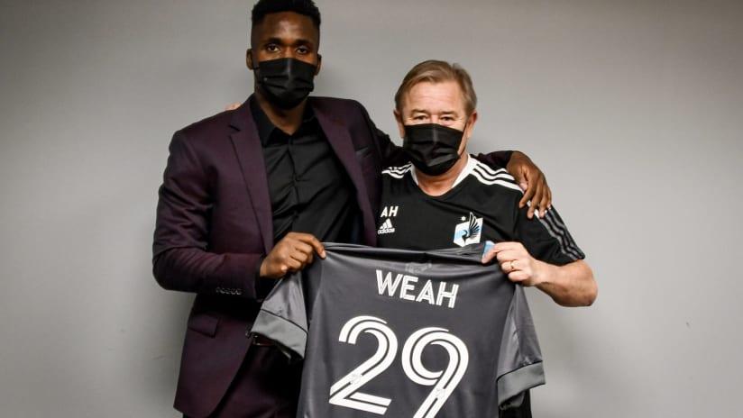 Patrick Weak w/ Adrian Heath - Minnesota United signing announcement