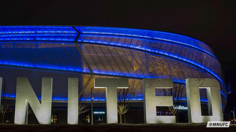 Allianz Field - Minnesota United - blue stadium