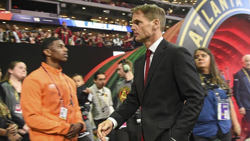 Frank de Boer – Atlanta United –before game