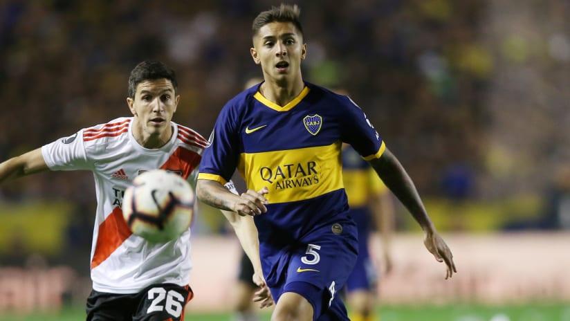 Agustin Almendra - Boca Juniors - in action in the Copa Libertadores vs. River Plate