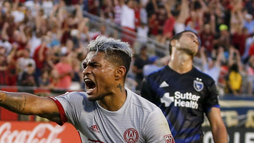 Josef Martinez goal celebration-ATL-SJ-7.4.17