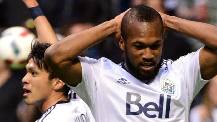 Kendall Waston - Vancouver Whitecaps - hands behind his head