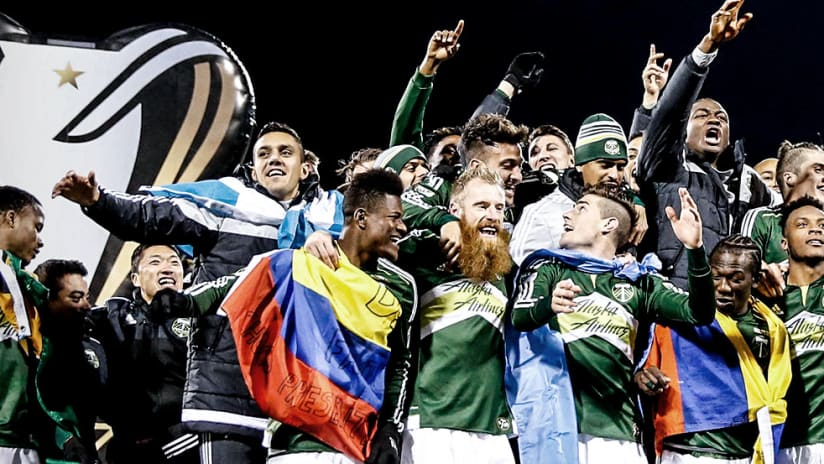 MLS Cup 2015 - Portland Timbers group celebration