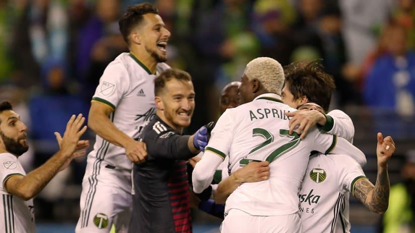 Portland Timbers - Celebrate series win over Seattle