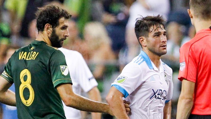 Diego Valeri, Nicolas Lodeiro - Portland Timbers vs. Seattle Sounders