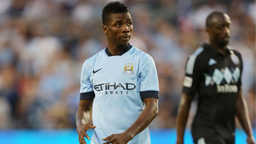 Manchester City player Kelechi Iheanacho during a friendly vs. Sporting KC