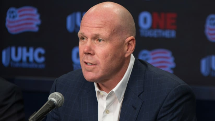 Brad Friedel - New England Revolution - speaks at his introductory press conference