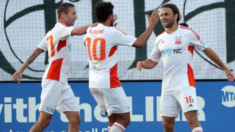 Carolina RailHawks/North Carolina FC celebrate - For NCFC expansion piece