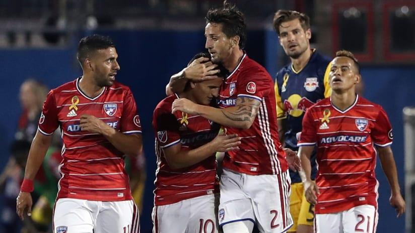 FC Dallas - celebrate Mauro Diaz's goal vs. New York Red Bulls