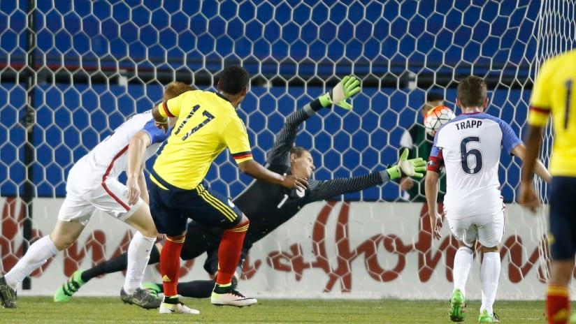 Colombia U-23s score on US U-23s
