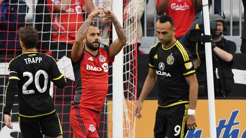 Victor Vazquez -- Heart Gesture -- vs Columbus