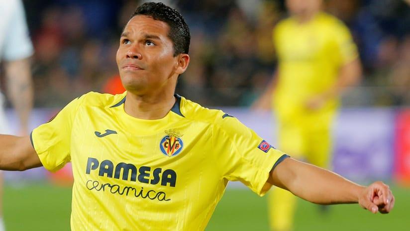 Carlos Bacca - Villarreal - goal celebration