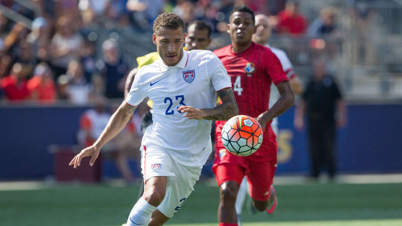 Fabian Johnson in action for the USMNT