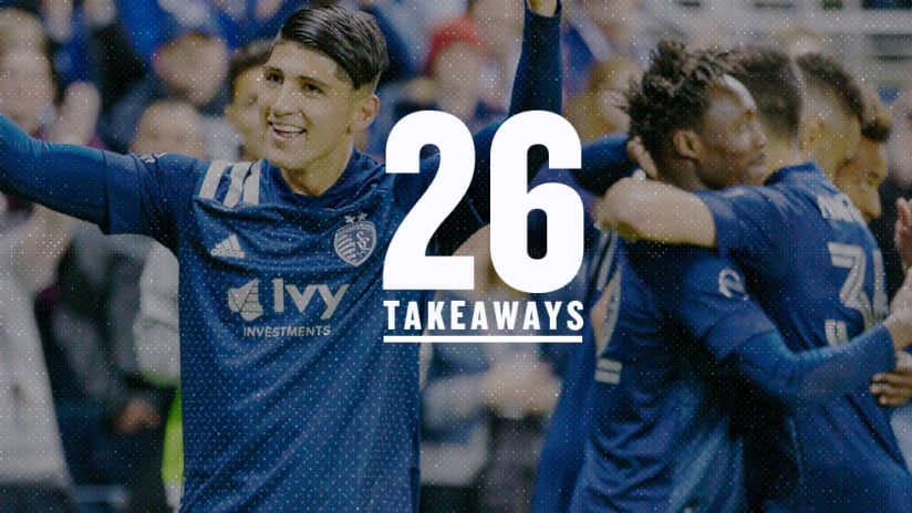 26 Takeaways - Week 2 - 2020: Alan Pulido celebrates a goal for Sporting KC