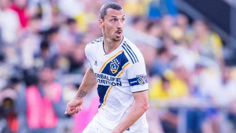 Zlatan Ibrahimovic - LA Galaxy - tight shot - in action on May 8, 2019
