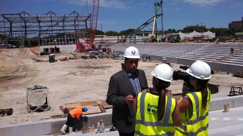 Orlando City Stadium construction - April 2016 (2)