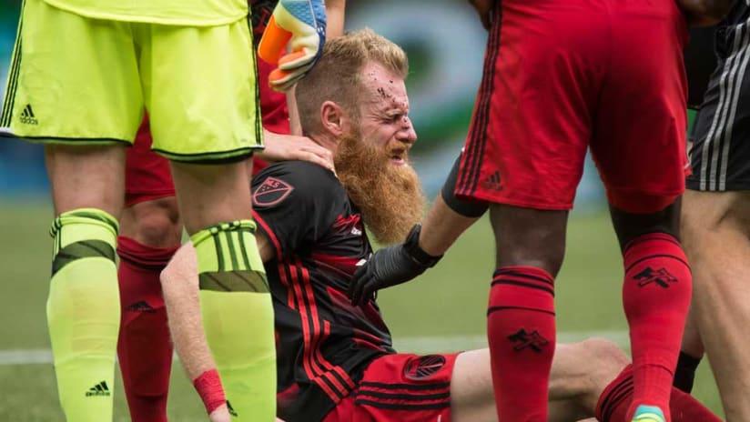 Nat Borchers - Portland Timbers - Injured vs. LA Galaxy