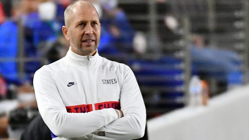 Gregg Berhalter - US national team manager - looks on